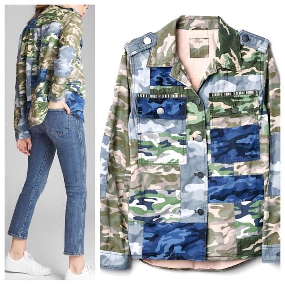eb82690973612 GAP Jackets & Coats | Patch Camo Print Utility Jacket 0397 | Poshmark